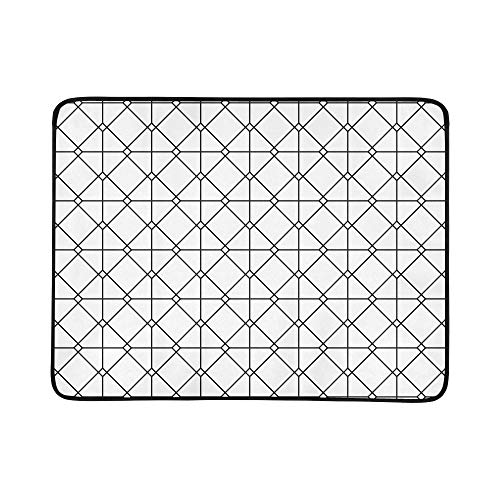 - ZXWXNLA Vintage Euro Sham Mesh Italian Wrought Iron Gate Pattern Portable and Foldable Blanket Mat 60x78 Inch Handy Mat for Camping Picnic Beach Indoor Outdoor Travel
