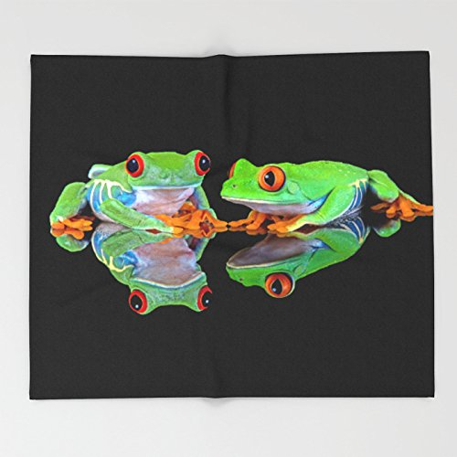 Society6 DOUBLE MIRROR FROGGINESS Throw Blankets 88'' x 104'' Blanket by Society6