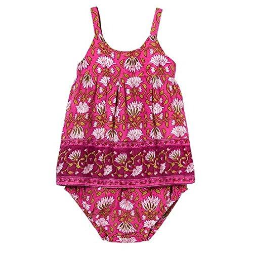 Pink Chicken Happy by Fandango Pink Infant Dress (12-18)