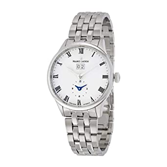 d8ea4df338 Maurice Lacroix Masterpiece Date GMT Mens Watch MP6707-SS002-112:  Amazon.co.uk: Watches