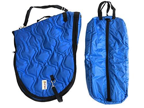 AJ Tack English Horse Saddle Carrier Bridle Halter Bag Set All Purpose Saddle Royal - English Halter