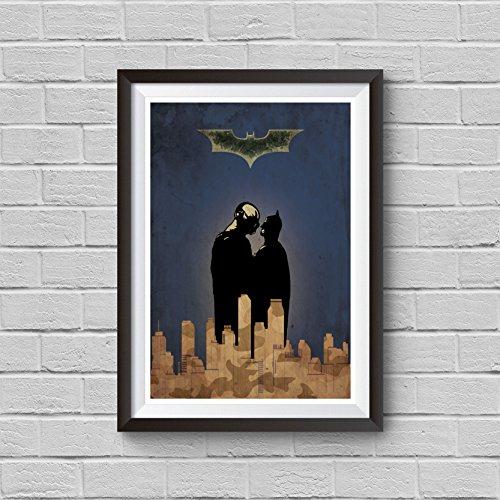 Batman The Dark Knight Rises Minimalist Poster Superhero Alternative Print A Christopher Nolan Movie DC Comics Tom Hardy Bane Illustration Cinema Home Decor Artwork Wall Art Hanging Cool Gift