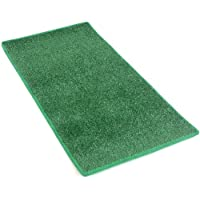 HEAVY TURF (15.5 Oz.) - 3x10 Artificial Grass Carpet Indoor / Outdoor Area Rug. 5/16 Thick, Premium Nylon Fabric BOUND EDGES .UV-Protected - weather and Fade-resistant ,100% UV olefin. MANY SIZES and Shapes. Rectangles, Squares, Circles, Half Rounds, Ovals, and Runners.