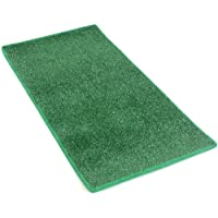 HEAVY TURF (15.5 Oz.) - 12x8 Artificial Grass Carpet Indoor / Outdoor Area Rug. 5/16 Thick, Premium Nylon Fabric BOUND EDGES .UV-Protected - weather and Fade-resistant ,100% UV olefin. MANY SIZES and Shapes. Rectangles, Squares, Circles, Half Rounds, Ovals, and Runners.