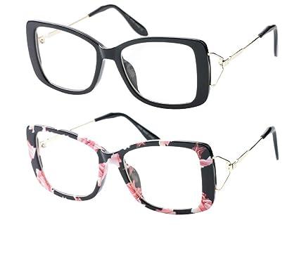 0298c999ef8 Amazon.com  SOOLALA Ladies Lightweight Large Frame Eyeglass Fashion ...