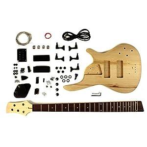 stellah 5 string ash bass guitar kit diy project musical instruments. Black Bedroom Furniture Sets. Home Design Ideas