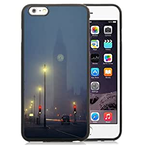 NEW DIY Unique Designed iPhone 6 Plus 5.5 Inch Phone Case For London Foggy Night Phone Case Cover