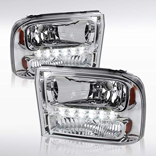 Autozensation Ford F250 F350 Superduty 00-04 Excursion Clear LED 1PC Style -