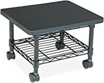 Safco Products 5206BL Under Desk Printer/Machine Stand, Black