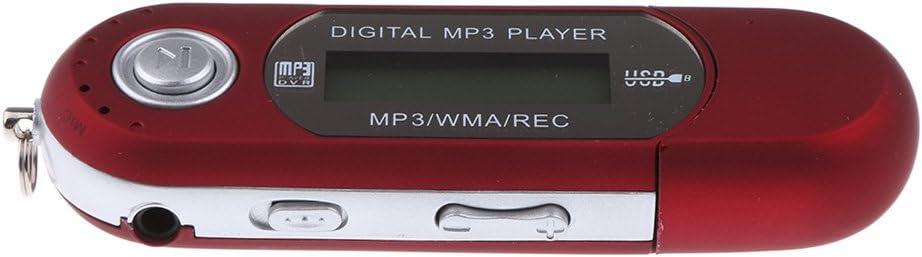 TALLA 4GB. Desconocido USB 2.0 MP3 Reproductor de Música Grabación con Función FM Radio Ebook Capacidad Memoria 8GB / 4GB - Rojo, 4GB