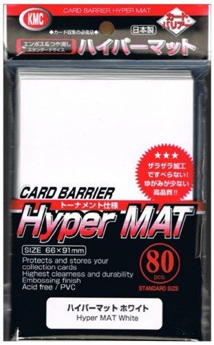 2X 80ct Packs KMC Hyper Matte WHITE Sleeves Fits Standard Size MTG, Magic, Pokemon etc... (1 Pack)