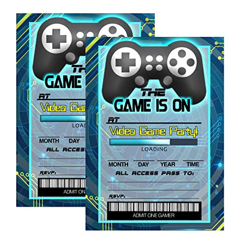 Silly Goose Gifts Video Game Themed Party Supplies for Your Gamer (Invitations) 12 Invites