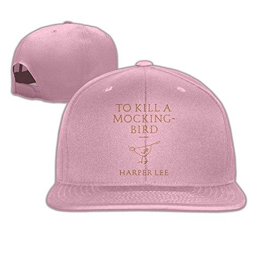 WilliamKL Kill A Mockingbird Flat Bill Snapback Adjustable Camping Hat Pink
