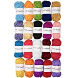 TYH Supplies 20-Pack 22 Yard Acrylic Yarn Assorted Colors Skeins - Perfect for Mini Knitting and Crochet Project: more info