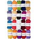TYH Supplies Acrylic Yarn Assorted Colors Skeins - Perfect for Mini Knitting and Crochet Project (Assorted, 22 Yard - 20 Pack)