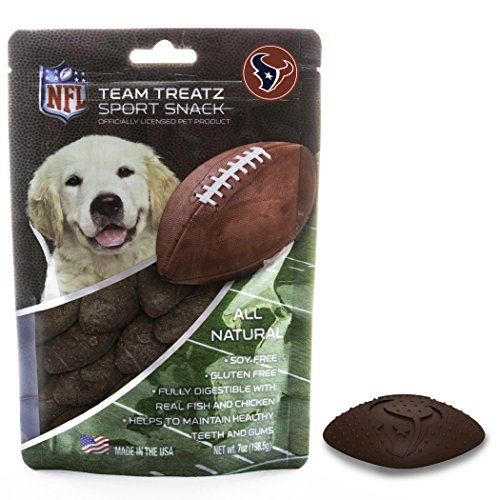 NFL HOUSTON TEXANS DOG Viands Snack Treat Bone-Free. Dog Training Cookies Tasty Biscuits for Dog Rewards. Provides Healthy Dog Teeth & Gum, Soy-Free, Gluten-Liberated.