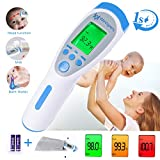 Forehead Thermometer, Digital Thermometer Non Contact Medical Infrared Thermometer for Fever, 3 Modes