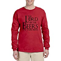 allntrends Hombres Manga Larga THE LORD OF THE Beers Dos pintas gracioso tee