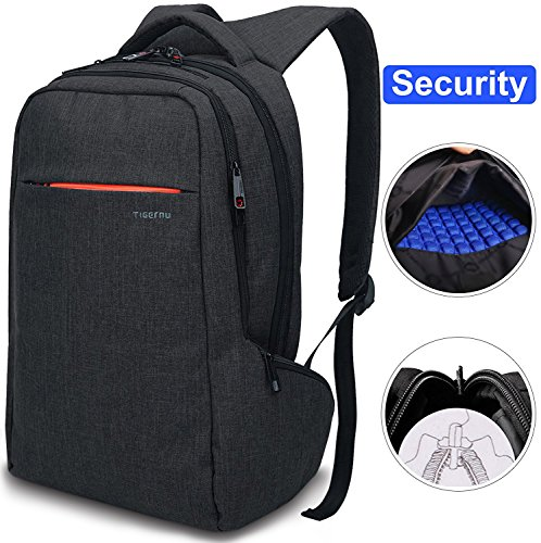 LAPACKER 15.6 inch Anti Theft Slim Water Resistant Women Men's Laptop Backpack Bag, Lightweight Business Travel College Computer Backpacks for MacBook in ()