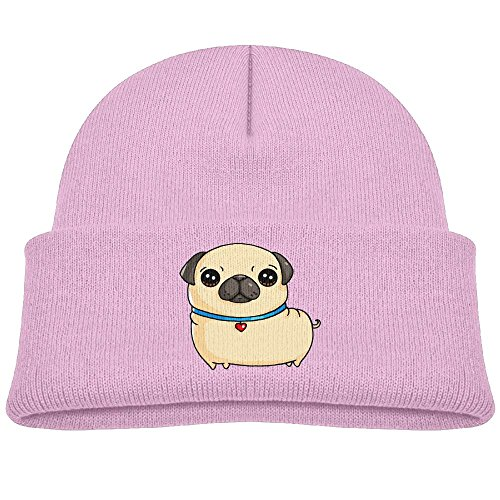 Pink Seattle Mariners Sweatshirt (Tongbu Big Eye Pug Kids Winter Warm Knitted Hat Fashion Wool Caps Beanie children Girls Boys Knit Cap Pink)