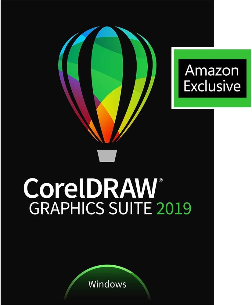 CorelDRAW Graphics Suite 2019 with ParticleShop Brush Pack for Windows - Amazon Exclusive - Upgrade [PC Download] [Old Version]