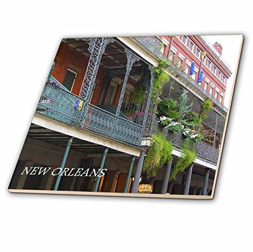- 3dRose ct_43748_2 French Quarter New Orleans-Ceramic Tile, 6-Inch
