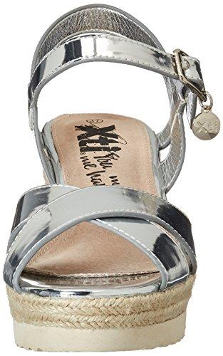 XTI Silver Mirror Pu Ladies Sandals . - Plataforma Mujer plateado (silver)