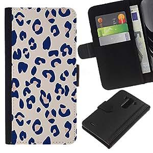 EJOY---La carpeta del tirón la caja de cuero de alta calidad de la PU Caso protector / LG G3 / --Piel púrpura patrón animal Rosa