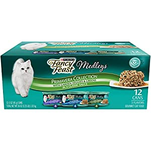 Purina Fancy Feast Medleys Primavera Collection Gourmet Wet Cat Food Variety Pack - (12) 3 oz. Cans
