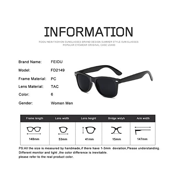 Polarized Sunglasses for Men Retro – FEIDU Polarized Retro Sunglasses for Men FD2149