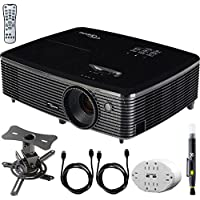 Optoma (HD142X) Full HD 1080p 3D DLP Home Theater Projector w/ Mount Bundle Includes, 6 Outlet Wall Tap w/ 2 USB Port + Low Profile Projector Mount + 2x HDMI Cable + LCD/Lens Cleaning Pen