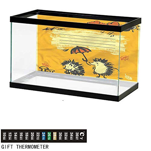 bybyhome Fish Tank Backdrop Fun,Notebook Cover Design Hedgehogs,Aquarium Background,24