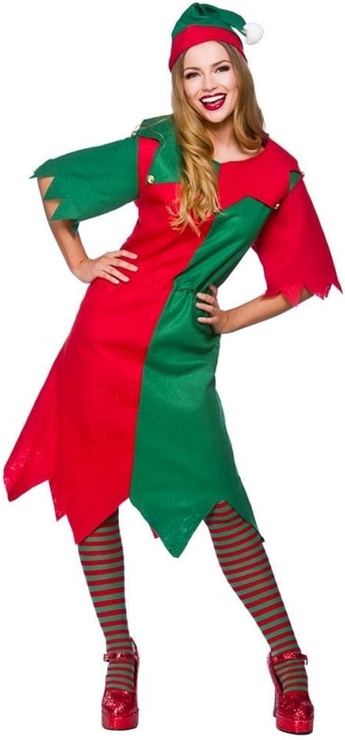 Elf Mens Fancy Dress Christmas Xmas Festive Santas Little Helper Adults Costumes