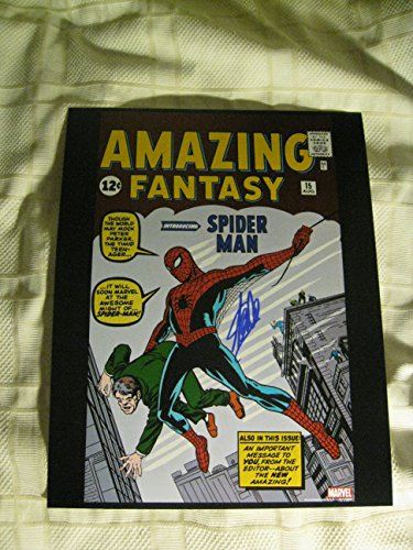 Stan Lee Amazing Fantasy 15 First Spiderman Signed/Autographed 11x14 Glossy Photo. Includes Fanexpo Certificate of Authenticity and Proof of signing. Entertainment Autograph Original.