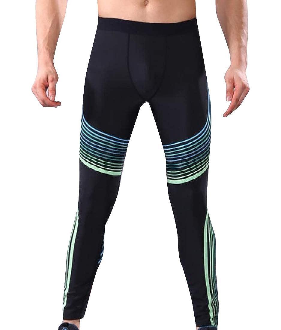 YUNY Men Skinny Pull On Style Ultra Soft Quick Dry Leggings Pants 1 XL
