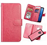 Galaxy S9 Plus Wallet Case,HYSJY S9 Plus PU Leather Detachable Magnetic 9 Card Slots Holder for Women With Shockpfoof flip Slim Cover Shell Cash Pocket Fit Samsung Galaxy S9Plus 6.2inch (9 Card-Rose)