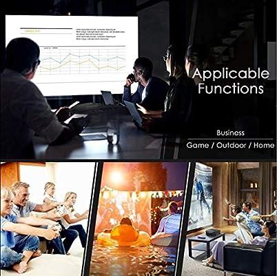 Proyector XINDA (versión actualizada) 2200 Lux LED Proyector ...