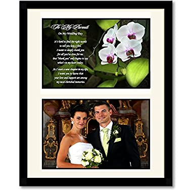 Parent Wedding Gift - Thank You from Bride or Groom - Add Photo Behind Mat Board in 8x10 Inch Frame