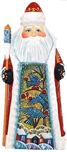 Russian Santa Figurine - Artist Signed Russian Hand Carved and Painted Wooden Santa/Grandfather Frost 7