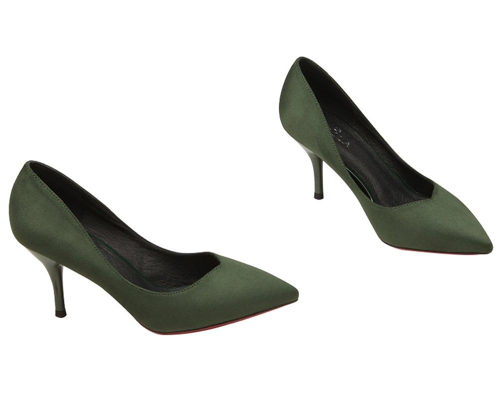 Office靴の女性ドレス女性用靴グリーン グリーン B06XQX5W7S