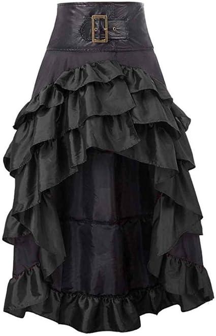 worclub Falda Asimétrica para Mujer, Retro Estilo Steampunk ...