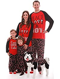Matching Christmas Pajamas Family, Couples, Dog