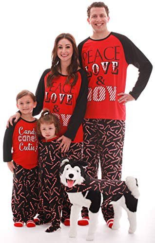Striped Pants Pajama Flannel (#followme Family Pajamas Microfleece Kids Pajama Set 45576-10179-10-12)