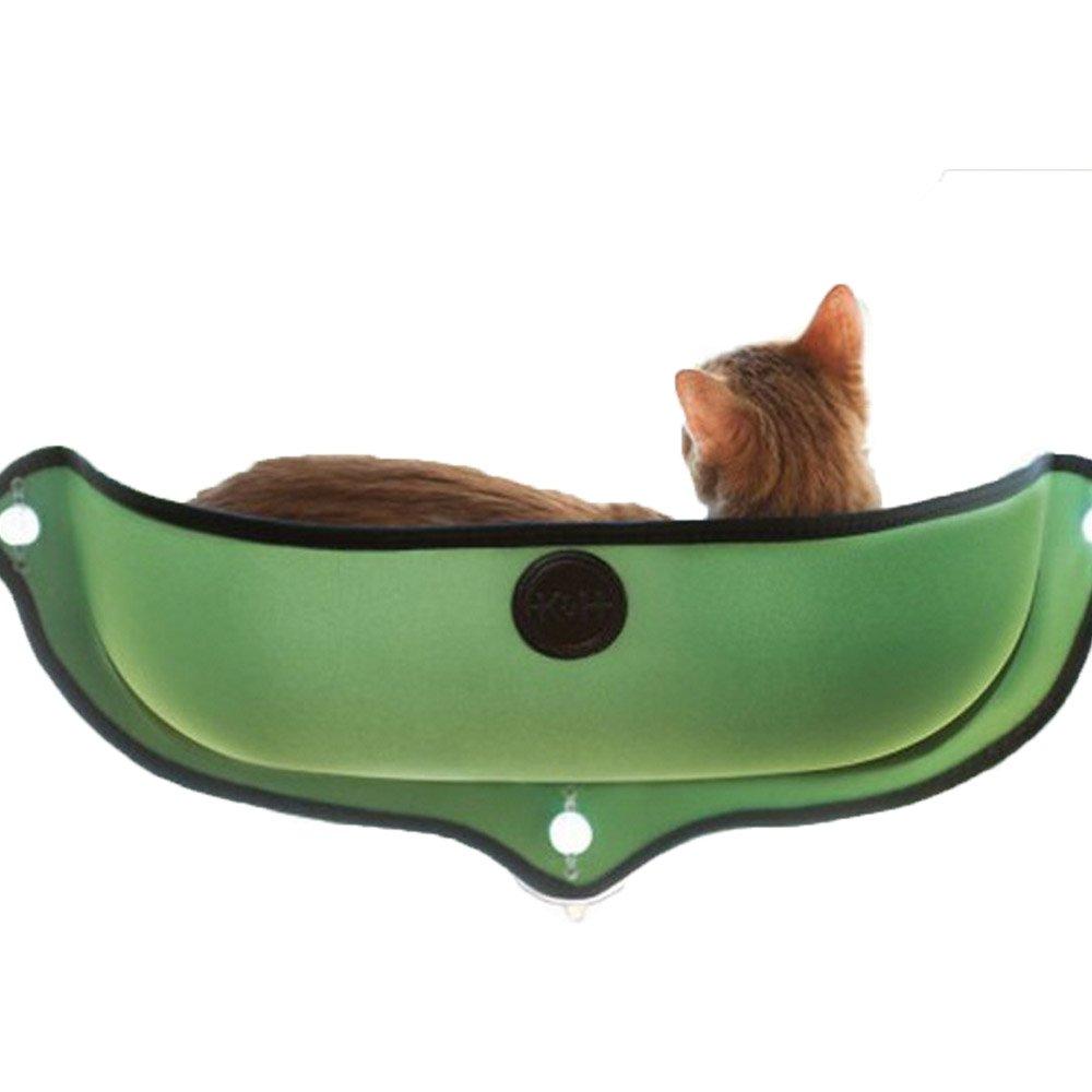 Cat Hammock Cat Sucker Windows And Windows Cage Semicircle Kennel Sun Baskles With Cat Pad (68.628cm, green)