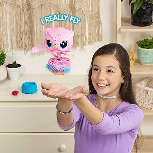 51IYmOf474L - Owleez, Flying Baby Owl Interactive Toy with Lights & Sounds (Pink), for Kids Aged 6 & Up