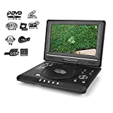9.8'' Portable DVD Player, HD LCD Swivel Screen DVD