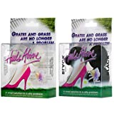 2 Boxes Heels Above Stiletto High Heel Protectors- CLEAR & BLACK