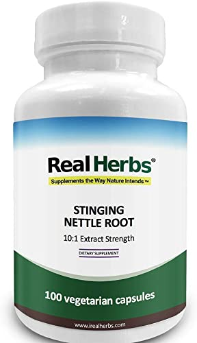 Stinging Nettle Root 10 1 Pure Extract 750mg Equivalent to 7500mg Raw Stinging Nettle Root Promotes Prostate Urinary Tract Health – 100 Vegetarian Capsules