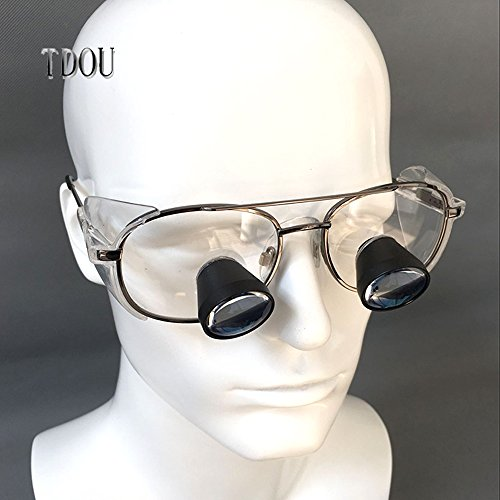 Tdou 2.3X FD504G Private Custom Quartz Lenses Embedded Magnifying Glass Titanium Alloy Frame High-End Grade with High-Grade Mahogany Box (58) by Tdou (Image #3)