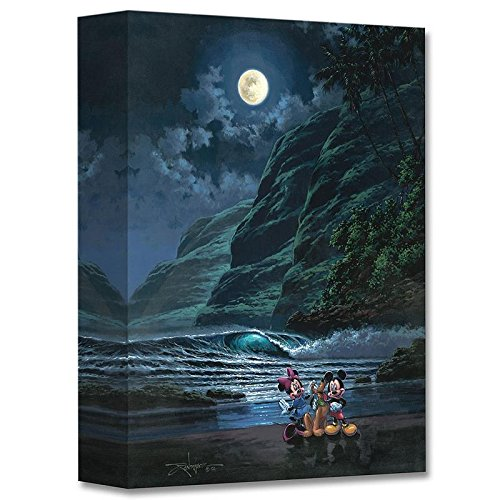 """Moonlit Portrait"" Limited edition gallery wrapped canvas by Rodel Gonzalez from the Disney Treasures collection, with COA."